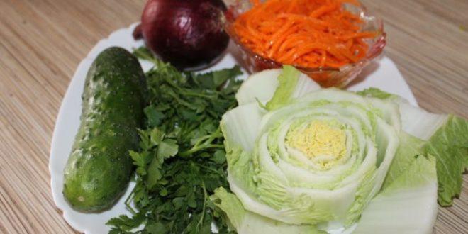 Фитнес-салат из корейской моркови и овощей
