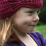 Шапочка — бабочка для Оливии. Вязаная шапочка крючком для девочки