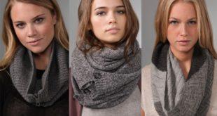 Вяжем крючком шарф-хомут
