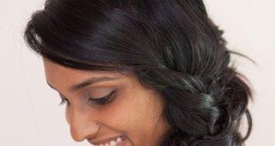 изогнутый пучок из косы