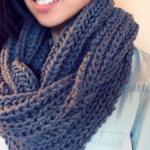Вязание кругового шарфа от Caron