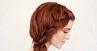 Богемная коса на боку головы