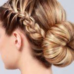 Плетем французскую косу с пучком внизу