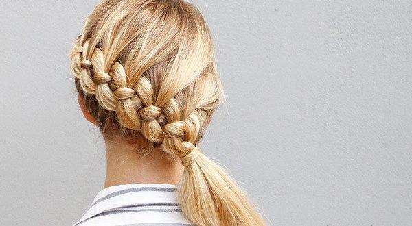 коса из 4 прядей волос