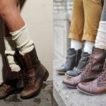 С чем носить грубые ботинки и сапоги?