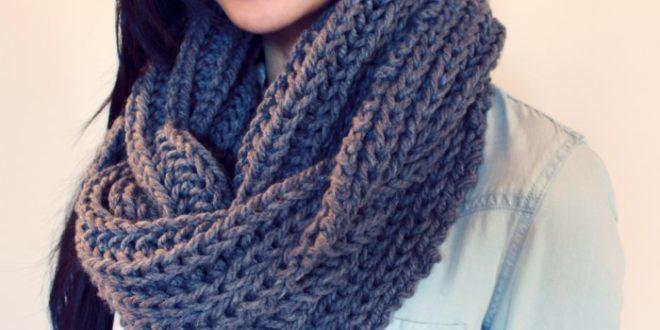 Вязание кругового шарфа