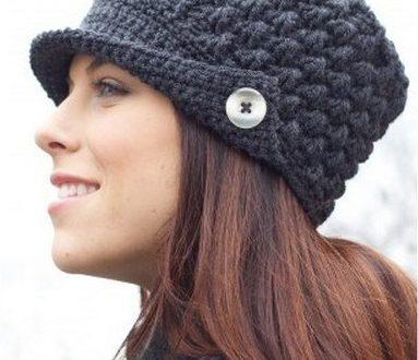 Вязаная шапка кепка