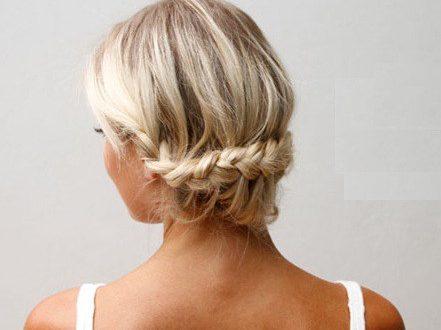 Прическа на основе кос,плетеные кружева